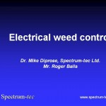 Electrical weed control