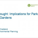 Implications of drought and water regulation for public parks and gardens