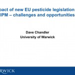 Impact of new EU pesticide legislation on IPM – challenges and opportunities