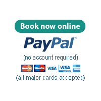 Online booking form via Wufoo & PayPal - no PayPal account required