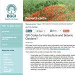 QR Codes for Horticulture and Botanic Gardens
