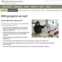 RHS projects on soil