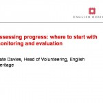 Assessing progress: where to start with monitoring and evaluation