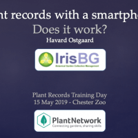 IrisBG: Plant records with a smartphone – does it work?